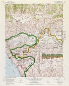 view Running Fence, Sonoma and Marin Counties, California, 1972-76, Valley Ford Quadrangle, CA, Topographic map with proposed Running Fence digital asset number 1