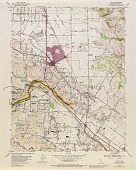 view Running Fence, Sonoma and Marin Counties, California, 1972-76, Cotati Quadrangle, CA, Topographic Map with proposed Running Fence digital asset number 1