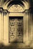 view St. Bartholomew's Church Doors, North Portal [sculpture] / (photographer unknown) digital asset number 1