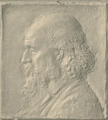 view Medal (Unidentified Man in Profile) [sculpture] / (photographer unknown) digital asset number 1