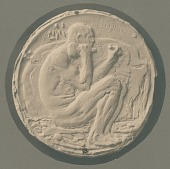 view Medal (Male Figure with Chisel) [sculpture] / (photographer unknown) digital asset number 1