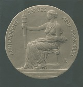 view Chi Omega Society National Achievement Medal [sculpture] / (photographed by De Witt Ward) digital asset number 1