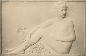view Girls Singing (one of two panels) [sculpture] / (photographer unknown) digital asset number 1