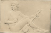 view Girls Singing (one of two panels) [sculpture] / (photographed by De Witt Ward) digital asset number 1