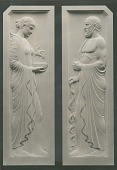 view Two Classical Figures - Relief [sculpture] / (photographed by Louis H. Dreyer) digital asset number 1