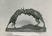 view Goats Fighting [sculpture] / (photographed by Peter A. Juley & Son) digital asset number 1