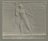 view World War I Memorial Tablet [sculpture] / (photographed by A. B. Bogart) digital asset number 1