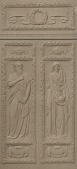 view Wellesley College Library Doors and Lintel [sculpture] / (photographed by A. B. Bogart) digital asset number 1