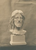view Head of Christ (Phillips Brooks Monument) (front view) [sculpture] / (photographed by De Witt Ward) digital asset number 1