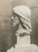 view Head of Christ (Phillips Brooks Monument) (side view) [sculpture] / (photographed by De Witt Ward) digital asset number 1