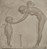 view Cupid and Psyche [sculpture] / (photographed by A. B. Bogart) digital asset number 1