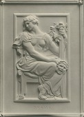 view Model for Gould Memorial Library Doors: Drama [sculpture] / (photographed by De Witt Ward) digital asset number 1