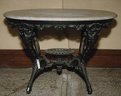 view <I>Table, cast iron base with marble top</I> digital asset number 1