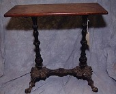 view <I>Table, cast iron base with wooden top</I> digital asset number 1