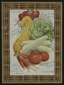 view <I>Seed catalog page, beet, squash, lettuce, tomato</I> digital asset number 1