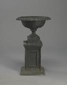 """view <I>Urn & pedestal, """"Long Leaf Shallow Vase""""</I> digital asset number 1"""