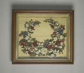view <I>Artificial flowers, wreath, framed</I> digital asset number 1