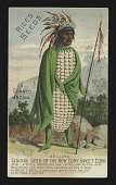 view <I>Trade card, Rice's Native American corn man</I> digital asset number 1