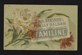 view <I>Trade card, H. R. Stevens' Family Balsam, Familine</I> digital asset number 1