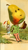 view <I>Trade card, Brown and Gillman's pear man</I> digital asset number 1