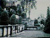 view [Naumkeag]: looking up toward the house from what is now the Rose Garden. digital asset: [Naumkeag]: looking up toward the house from what is now the Rose Garden.: 1947.