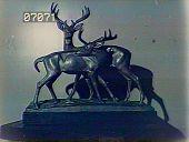 view [The Chimneys]: sculpture of deer. digital asset: [The Chimneys]: sculpture of deer.: [1930?]