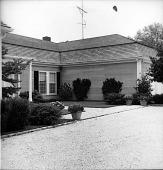 view [Converse Garden]: front entrance to house. digital asset: [Converse Garden] [contact print]: front entrance to house.