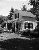 view [Unidentified Garden in Unknown Location]: small cottage-style farmhouse. digital asset: [Unidentified Garden in Unknown Location]: small cottage-style farmhouse.: [between 1960 and 1994]