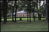view [Dunklin Longmeadow Garden]: view of the front of the house from the street, showing the creek bisecting the two front lawns. digital asset: [Dunklin Longmeadow Garden]: view of the front of the house from the street, showing the creek bisecting the two front lawns.: 2008 Sep.