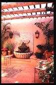 view [Matthews Garden]: wall fountain seating area. digital asset: [Matthews Garden]: wall fountain seating area.: 1992