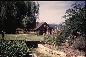 view [Dougherty Garden]: view of house and gardens. digital asset: [Dougherty Garden]: view of house and gardens.: 1996 Jul.