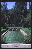 view [Magowan Garden]: North garden from terrace. digital asset: [Magowan Garden]: North garden from terrace.: 1996 Aug. 15.