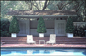 view [Miller Garden]: pool with brick terrace. digital asset: [Miller Garden]: pool with brick terrace.: 1997 May 28.