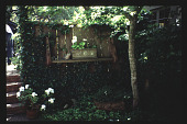 view [Mitchell Garden]: southeast corner of patio. digital asset: [Mitchell Garden]: southeast corner of patio.: 1997 May.