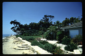 view [Untitled Garden in Santa Barbara, California]: sea-wall and circular steps. digital asset: [Untitled Garden in Santa Barbara, California] [slide]: sea-wall and circular steps.