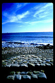 view [Untitled Garden in Santa Barbara, California]: stone steps define beach access digital asset: [Untitled Garden in Santa Barbara, California] [slide]: stone steps define beach access