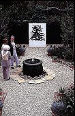 view [Volk Garden]: a fountain and sculpture. digital asset: [Volk Garden]: a fountain and sculpture.: 1999 Apr.