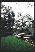 view [Untitled Garden in Pasadena, California]: circular steps leading to lower garden. digital asset: [Untitled Garden in Pasadena, California] [slide]: circular steps leading to lower garden.