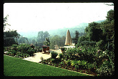 view [Untitled Garden in Los Angeles, California]: rear of property overlooking canyon and hills beyond. digital asset: [Untitled Garden in Los Angeles, California] [slide]: rear of property overlooking canyon and hills beyond.