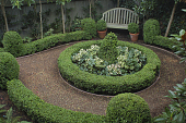 view [Little House]: shows formal parterre in the back garden. digital asset: [Little House]: shows formal parterre in the back garden.: 2012 Mar.