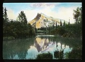 view [Canadian Rockies]: Mount Rundle seen from the Bow Valley. digital asset: [Canadian Rockies]: Mount Rundle seen from the Bow Valley.: [between 1915 and 1930]