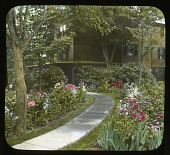 view [Miscellaneous Sites in Hartford, Connecticut]: the Burdett Loomis house and garden in West Hartford. digital asset: [Miscellaneous Sites in Hartford, Connecticut] [lantern slide]: the Burdett Loomis house and garden in West Hartford.