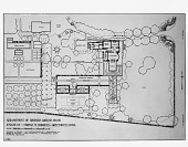 "view [Hodgens Garden]: photograph of plan titled ""Arrangement of Grounds Around House."" digital asset: [Hodgens Garden] [glass negative]: photograph of plan titled ""Arrangement of Grounds Around House."""
