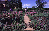 view [Windy Hill]: view of sundial and potager (kitchen garden). digital asset: [Windy Hill]: view of sundial and potager (kitchen garden).: 1998 Apr.