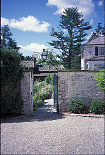 view [Apple Acres]: entrance to terrace and courtyard. digital asset: [Apple Acres]: entrance to terrace and courtyard.: 2001 Aug.