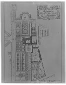 view Hampton Court: a plan of the gardens at Hampton Court, Herefordshire. digital asset: Hampton Court [glass negative]: a plan of the gardens at Hampton Court, Herefordshire.