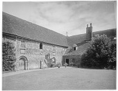 view [Miscellaneous Sites in Shere, Surrey, England, and Vicinity, Series 1]: an unidentified manor house, barn, or institutional structure, perhaps connected at one time to a monastery. digital asset: [Miscellaneous Sites in Shere, Surrey, England, and Vicinity, Series 1] [glass negative]: an unidentified manor house, barn, or institutional structure, perhaps connected at one time to a monastery.