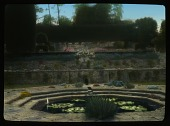 view [St. Catherine's Court]: lily pond and terraces. digital asset: [St. Catherine's Court]: lily pond and terraces.: 1929 Jun.