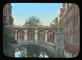 "view [St. John's College, Cambridge University]: the so-called ""Bridge of Sighs"" over the River Cam, designed by Henry Hutchinson in the early 19th century. digital asset: [St. John's College, Cambridge University]: the so-called ""Bridge of Sighs"" over the River Cam, designed by Henry Hutchinson in the early 19th century.: [between 1914 and 1935]"