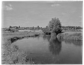 view [Miscellaneous Sites in West Sussex, England]: looking across the River Arun toward the town of Pulborough. digital asset: [Miscellaneous Sites in West Sussex, England] [glass negative]: looking across the River Arun toward the town of Pulborough.